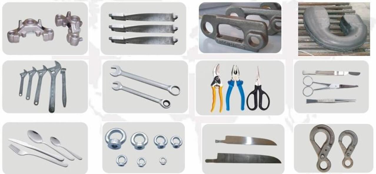 Примеры деталей, изготовленных на гидравлическом ковочно-штамповочном молоте с ЧПУ