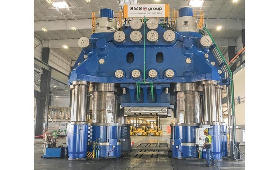 Новый 60 000-тонный ковочный пресс SMS в кампусе Weber Metals в Калифорнии